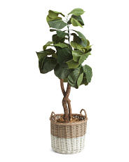 48in Faux Fiddle Leaf Fig Tree