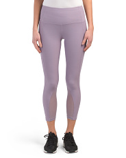 Leggings With Mesh Inset & Side Pocket