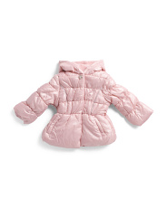 Toddler Girls  Hooded Quilted Puffer Jacket