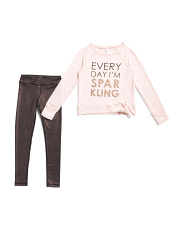 Big Girls 2pc Everyday I Am Sparkling Top And Legging Set
