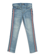 Big Girls Pull On Jeans With Side Taping