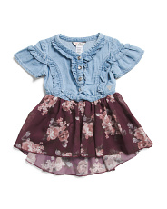 Infant Girls Ruffle Tie Front Dress