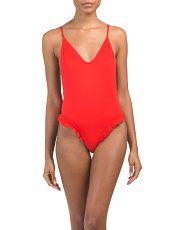 Ruffle One-piece Swimsuit