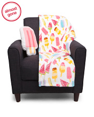 Popsicle Micromink Pillow & Throw Set
