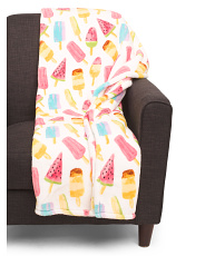 Popsicles Plush Throw