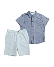 Toddler Boys 2pc Woven Oxford Short Set