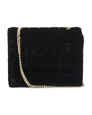 Laine Quilted Velvet Shoulder Crossbody