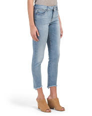 High Rise Step Hem Skinny Jeans