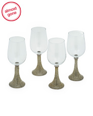 4pk Charm Collection Wine Goblets