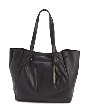Large Soft Pebble Leather Tote