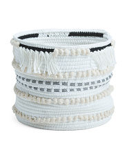 Made In Indonesia Large Rope Storage Basket