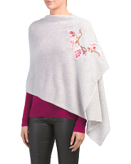 Cashmere Wrap With Flower Detail