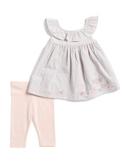 Infant Girls 2pc Seersucker Tunic Legging Set
