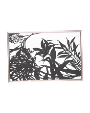 36x24 Monochrome Foliage Framed Wall Art