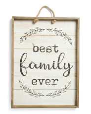 24x18 Firwood Best Family Ever Hanging Wall Art