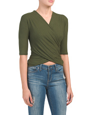 Made In Usa Elbow Sleeve Wrap Top