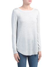Round Hem Lightweight Sweater