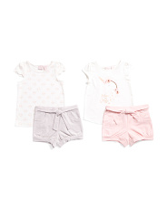 Toddler Girls 4pc Unicorn Mix & Match Short Set