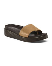 Suede Footbed Sandals