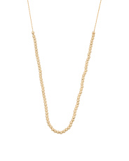 Made In Italy 14k Gold Diamond Cut Rondelle Necklace