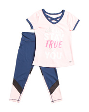 Big Girls 2pc  Always Stay True To You Top And Active Pants Set