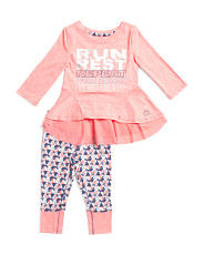 Big Girls 2pc Run Rest Repeat Top And Pants Set
