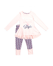 Big Girls 2pc Winning Is Always In Style Top And Pants Set
