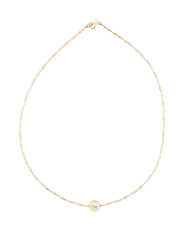 Made In Italy 14k Gold Twist Flex Bead Necklace