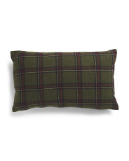 12x20 Down Filled Tartan Plaid Pillow