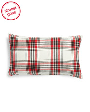 Made In India 12x20 Plaid Pillow