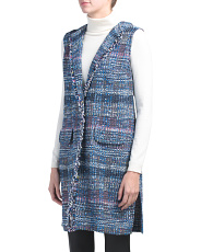 Water Color Placed Knit Vest