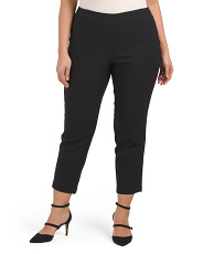 Plus Textured Super Stretch Pull On Pants