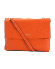 Clarie Double Compartment Leather Crossbody