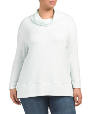 Plus Cowl Neck Top