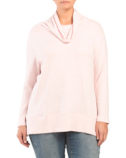 Plus Cowl Neck Knit Top