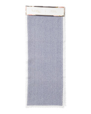 Prema Chambray With Lace Table Runner