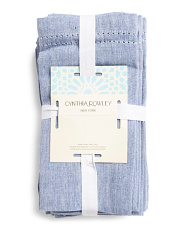 Made In India 12pk Chambray Hemstitch Napkins