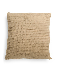 Made In India 26x26 Crushed Euro Pillow