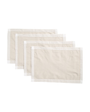 Made In India 4pk Contrast Hemstitch Placemats