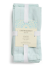Made In India 12pk Priscilla Chambray Napkins