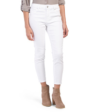 Petite High Waist Sateen Ankle Pants