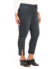 Plus Side Slit & Grommets Jeans