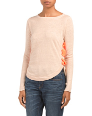 Linen The Explorer Side Lace Sweater