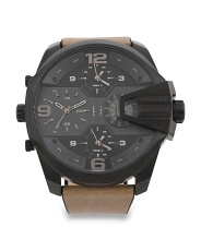 Men's Uber Chief Chronograph Leather Strap Watch