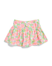 Little Girls Floral Skort