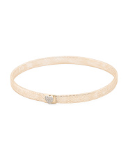 Made In Italy 14k Gold Stretch Cz Accent Bracelet