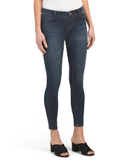 Juniors Mid Rise Pull On Monty Skinny Jeans