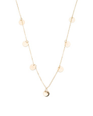Made In Italy 14k Gold Disc Necklace