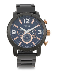 Men's Chronograph Stainless Steel Strap Watch