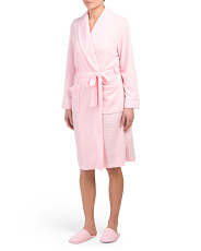 Heather Knit Robe With Slippers
